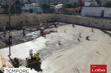Obras Edificio Tempore Septiembre 2021